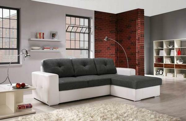 The sofa should be chosen based on the size and design of the living room