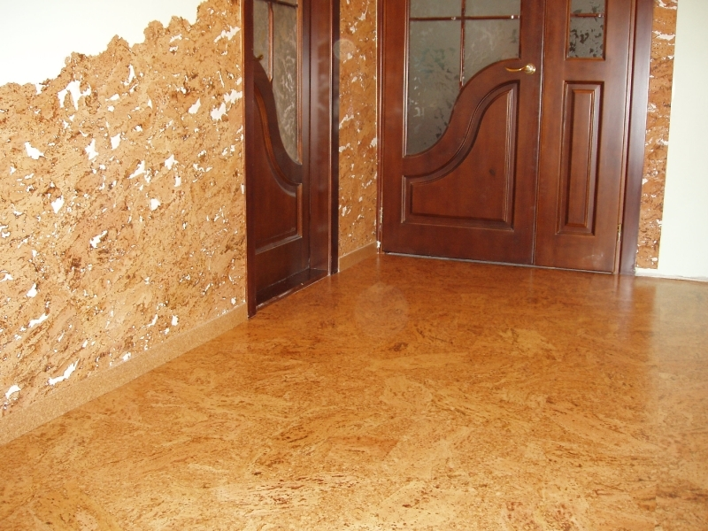 How to glue cork wallpaper correctly: as well as two types of duplex, foam, adhesive, meter, as the chipboard, wall mounted