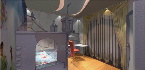 Design project of the children's room for a girl: interior design ideas, decor wallpaper