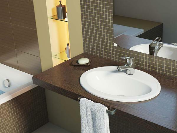Sink on the countertop: built-in washbasin, installation of a waybill, how to attach and fasten over the countertop