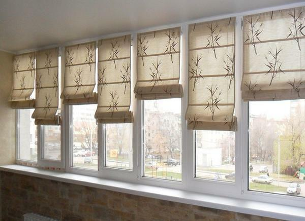 Curtains on the loggia: photo, 6 meters of curtain, on the balcony with your own hands, design of curtains, how to decorate the windows