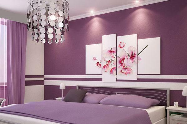 In what color to paint the bedroom photo: the walls of the structural roller, painting and design options