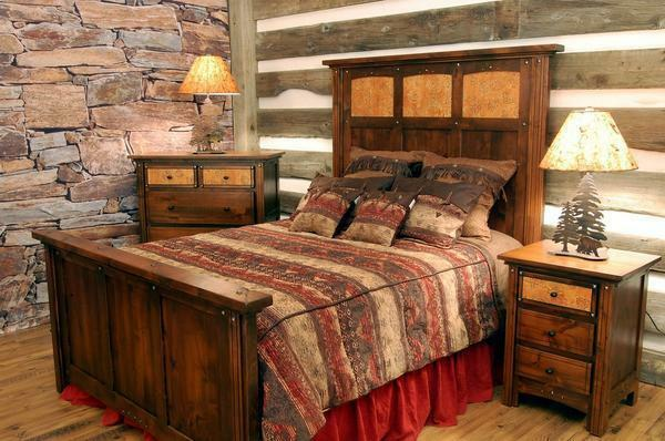 For a bedroom made in country style, solid furniture from any kind of wood is suitable: oak, pine, ash
