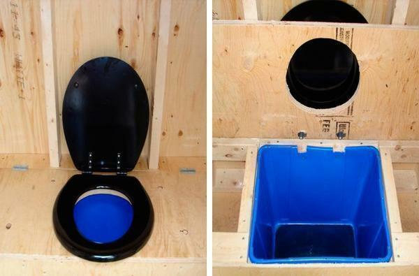 Composting toilet - the design is eco-friendly, that for giving is especially important