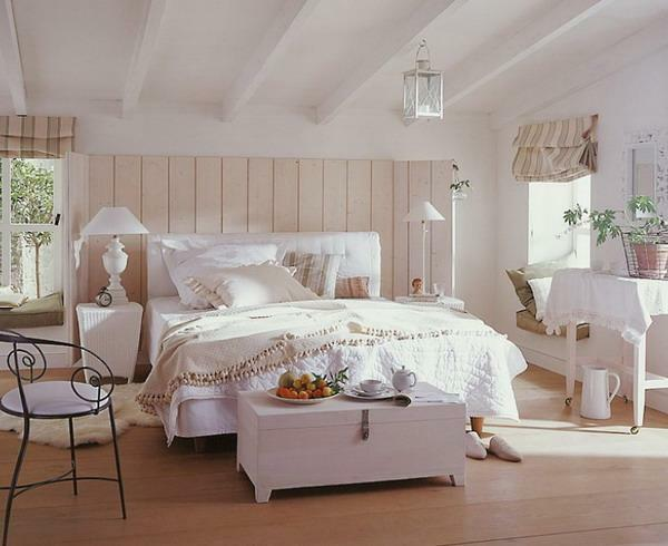 Make a cozy and atmospheric bedroom will help the country style