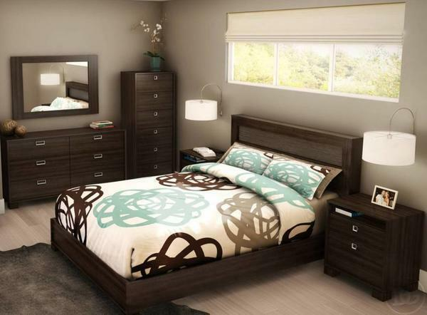 Design of a small bedroom photo 2017 modern ideas: interior stylish small