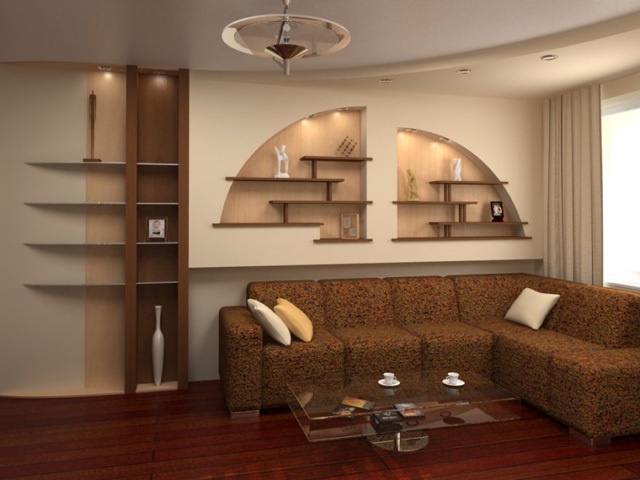 A niche in the wall design: its device in the room, the modern view of the interior