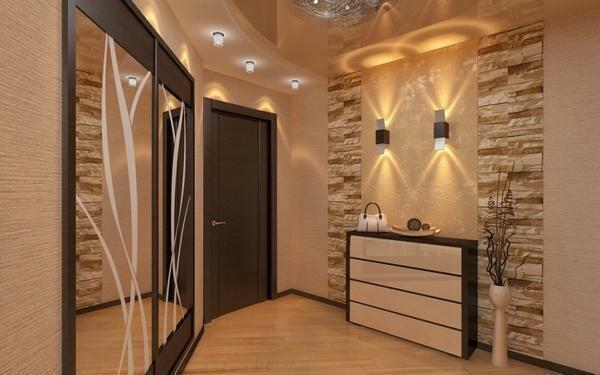 Repair in the corridor and hallway: in the apartment photo, a common example, how to make a design, a room with your own hands, the euro
