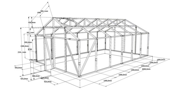 The door of the greenhouse: the size of the greenhouse and the sealant, the width of the frame, the film and handles, the side attachment and how much the height