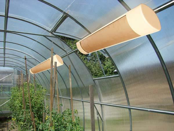 Heater for a greenhouse: energy-saving with a thermoregulator, own greenhouse, electric heat