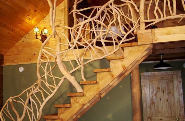 The original solution is to use handrails that mimic the roots of trees