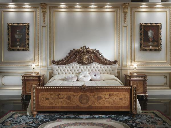 Italian bedroom: a classic furniture set, a Russian manufacturer, a photo of a modern white wardrobe