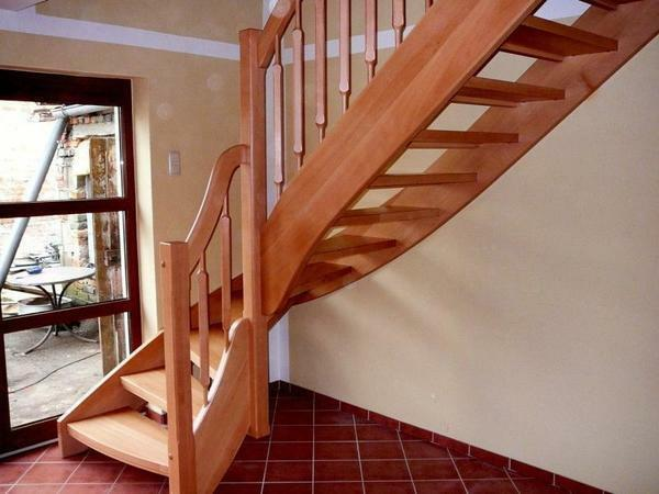 When adjusting the stairs to the second floor, it is necessary to take into account the interior of the house