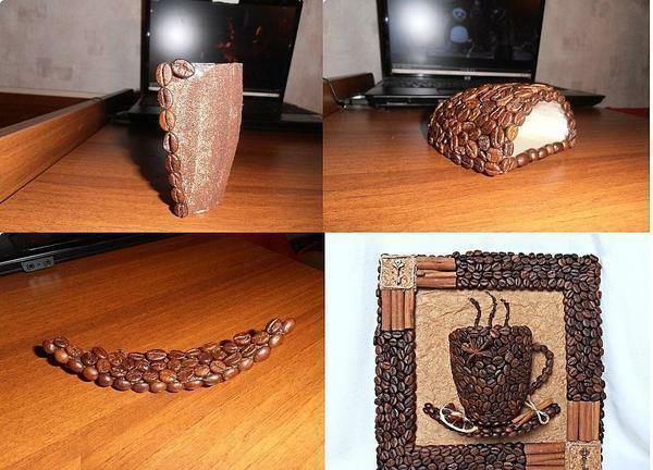 Topiary of coffee is always a unique piece of furniture, the creation of which depends only on your imagination