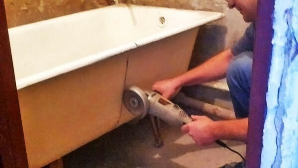 Подготовка чугунной ванны к транспортировке
