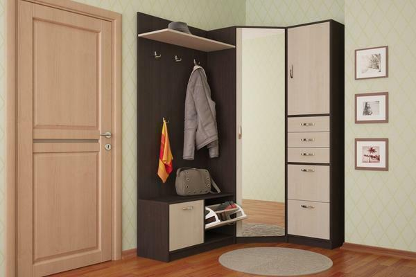 It is worth choosing a wardrobe of a color that would be different from the shade of the walls