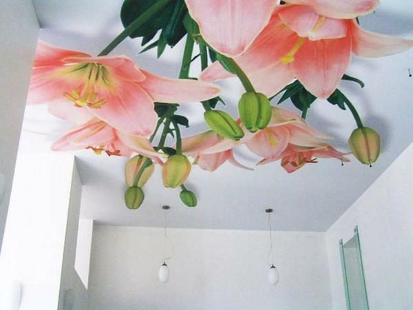 "Make the room more ""live"" can be easily: just glue on the ceiling bright wallpaper"