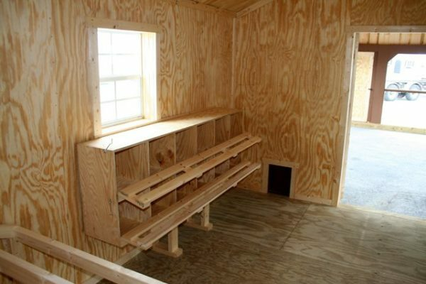 Wooden windows are perfect for chicken coops
