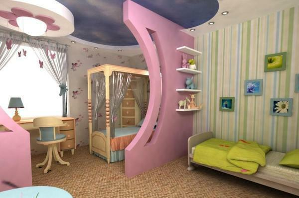 Your children will no longer quarrel over the territory of the room, because with the help of a cozy design and the right selection of furniture, their room will turn into two small cozy bedrooms