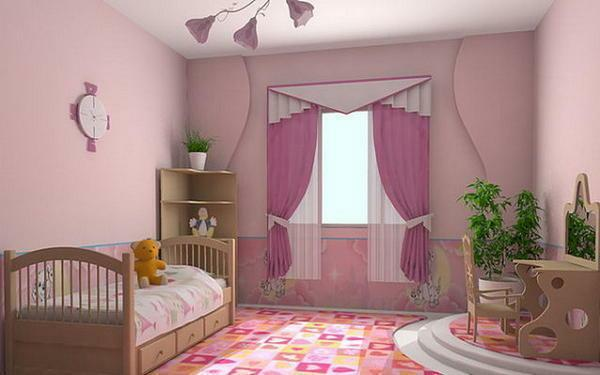 Pink wallpaper: in the interior photo, which fit, background and color combinations, white and pink in the room