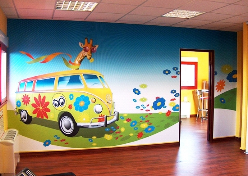 Children's bedroom design: the wallpaper in the interior of the combined narrow room 12 square meters