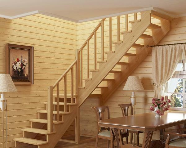 Steps for stairs made of pine can differ in shape, color and thickness