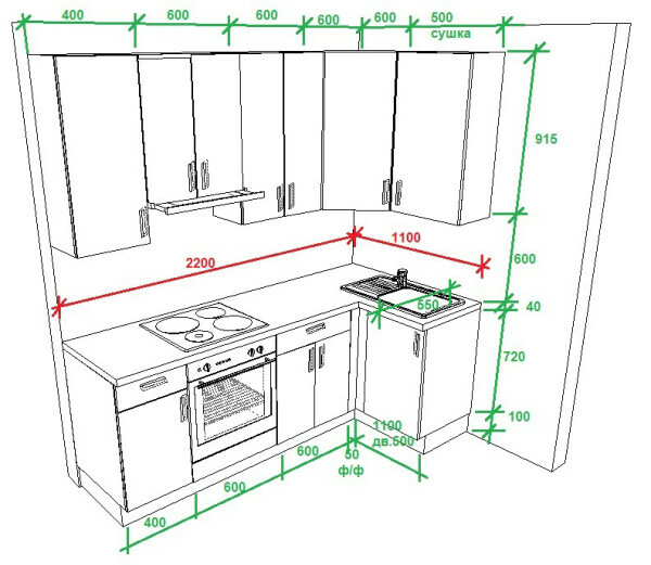 Small kitchen design: ideas for the interior space of small dimensions, repair, video and photos