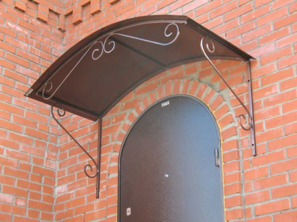 Make a canopy over the porch is every home craftsman