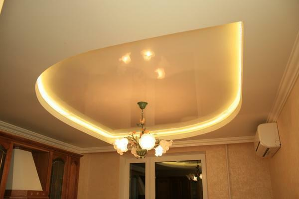 To make a ceiling with a backlight is quite simple: you should connect the tape correctly and choose a solution for fixing it