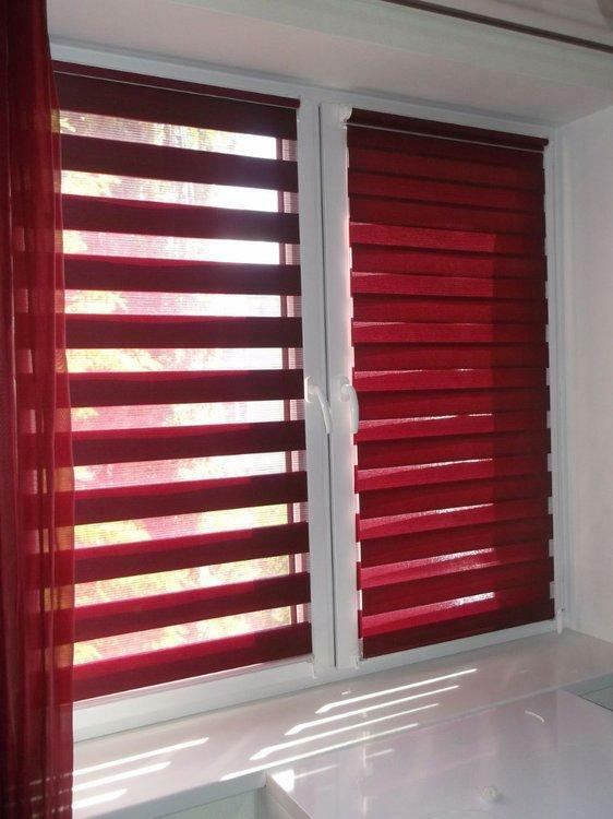 Roller blinds not only protect the house from the sun, but also fit into any interior