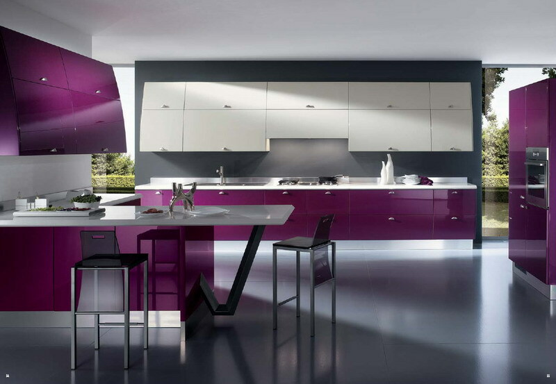 The kitchen in the apartment: design modern square 6 square meters with a gas column