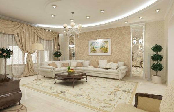 Decoration of the living room in the apartment photo: interior ideas, rooms in the house, designer niches, styles and rules, like