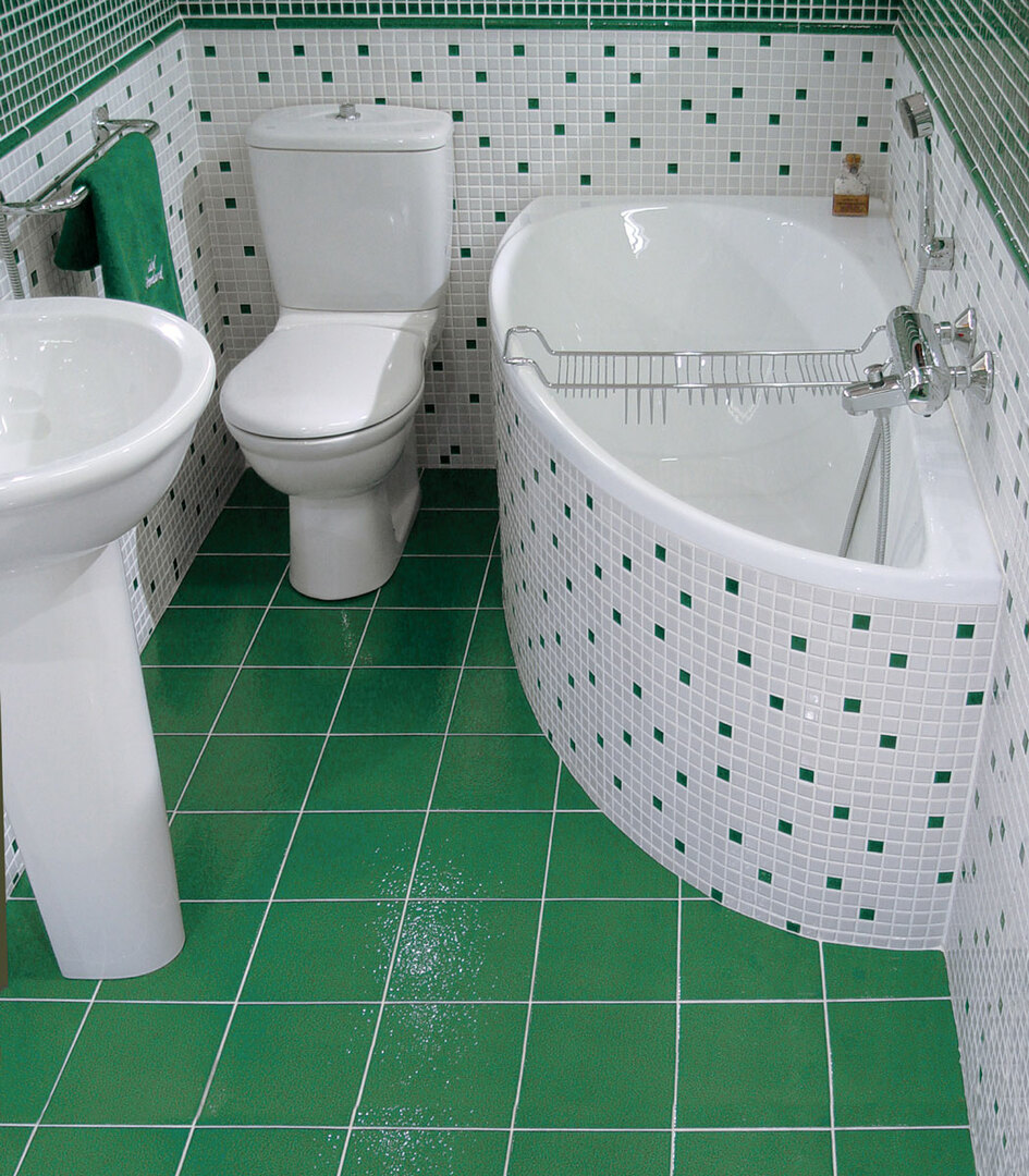 bathroom design in the colors of the Khrushchev