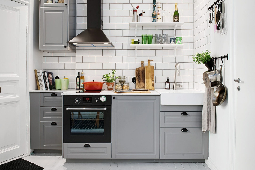 Gray kitchen: modern way to design space