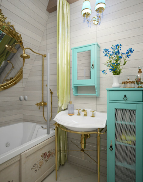 Small bath in the style of Provence