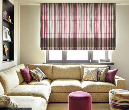 Roman curtains are perfect for a living room