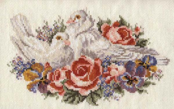 Wedding metrics cross-stitch embroidery schemes: download for free without registration, bouquets for cards, sets and subjects