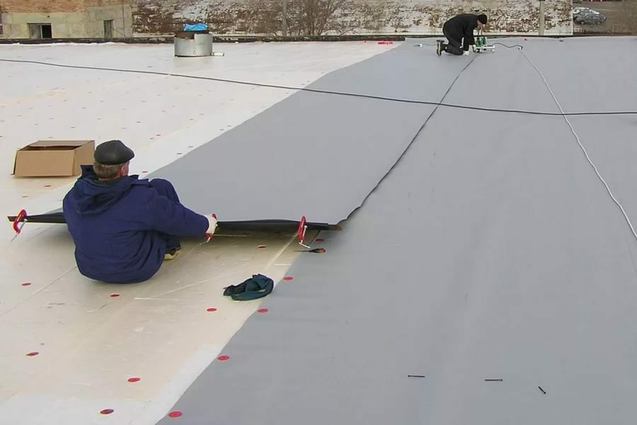 PVC Membrane - reliable waterproofing covering for flat roofs and pitched