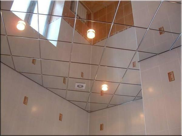 Especially popular are cassette and rack mirror ceilings Armstrong