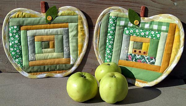 Patchwork: photo, how nice and easy to sew patchwork, pictures, what it is, potholders, program for a mug
