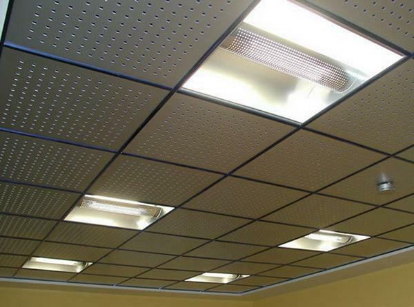 Ceiling Armstrong tile sizes: Baikal hanging views, thickness and type replacement, metal and moisture resistant
