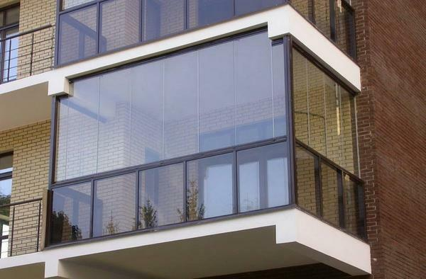 Aluminum glazing of balconies: profile for loggias, how to glaze with cold aluminum, video of concrete construction