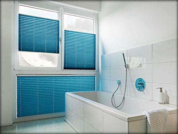 Blinds will help to make the bathroom more interesting
