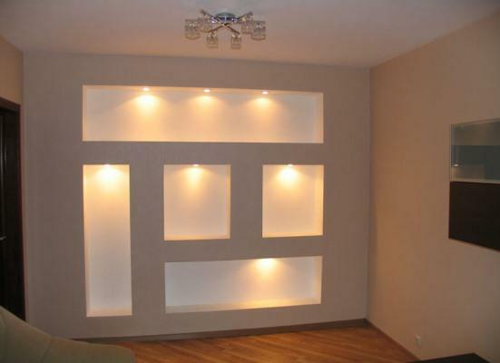 Gypsum board construction is a great way to transform the interior and make it more refined