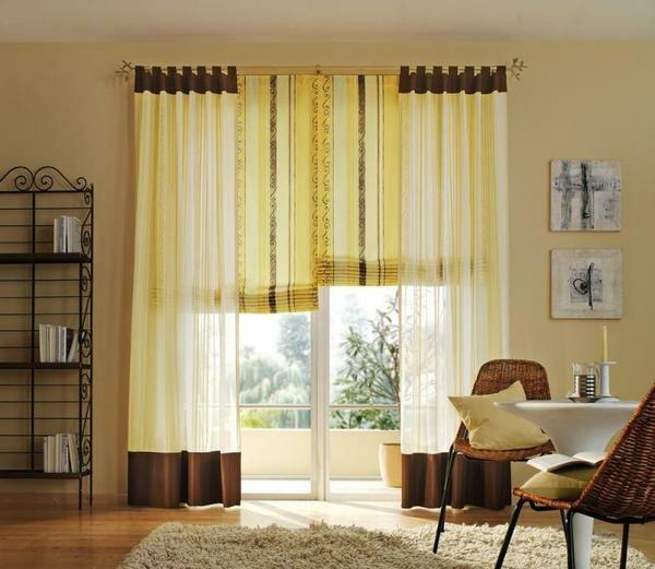 To extend the curtains, you can use a universal method, which implies the extension of the fabric from above
