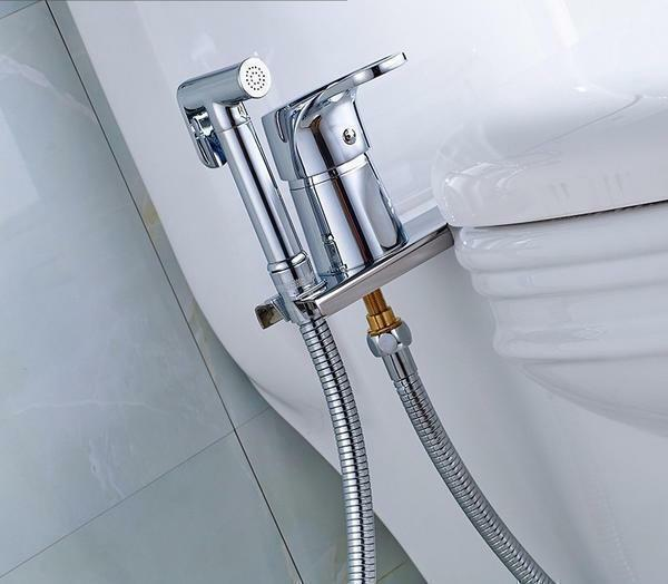 Hygienic shower: in toilet for toilet, photo with mixer, installation of sanitary watering can for bidet