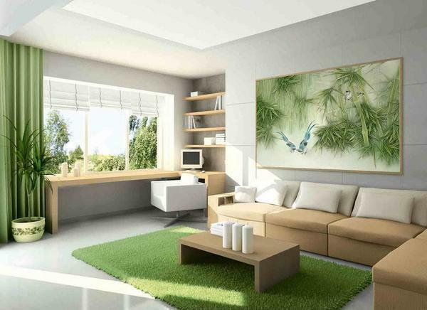 Choosing the design, shape and color of the panel on the wall in the living room, you need to take care that it fits into the interior of the room