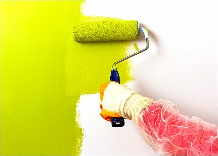 Acrylic paint for walls and ceilings in the interior: instructions on how to paint with their hands, videos and photos