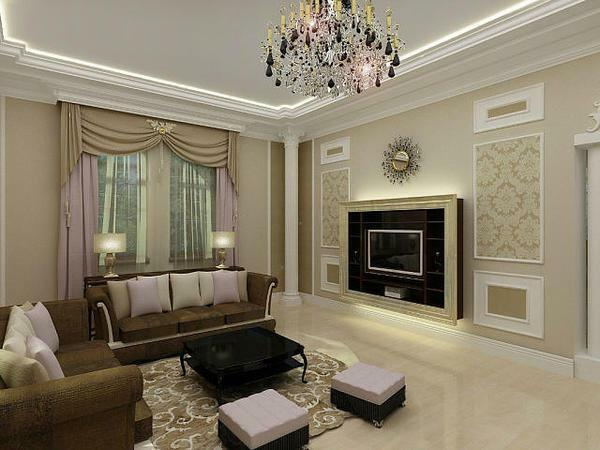 Beautiful furniture in the living room will create a certain mood for the household