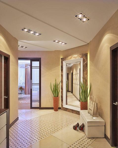The floor in the hallway should be chosen with high resistance to mechanical damage and abrasion